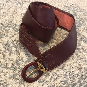Vintage Dior leather belt xs